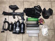Tippmann 98 Paintball Gun Package: 4 Tanks, 2 Hoppers, Mask, Flex Hose - AS IS