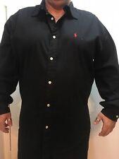 Top Ralph Lauren Klassisches Herren Oxford Hemd Blake Neu & OVP Schwarz XL