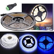 1M/3M/5M IP65 Flexible 3528 SMD LED Tape Rool Strip 12V Lights+ Female Connector
