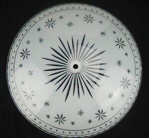 """Vtg Mid-Century Modern Starburst Ceiling Light Shade 15"""" Diameter"""