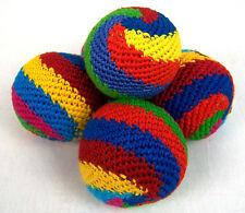 Set of 5 spiral hacky sacks hand made in Guatemala juggling balls footbag magic