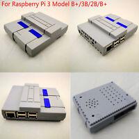 Für Raspberry Pi 3 Model/3B/2B/B+ Enclosure Box Hülle Gehäuse Case Cover SNESPi