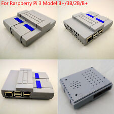 Für Raspberry Pi 3 Model/3B/2B/B+ Enclosure Box Hülle Gehäuse Case Cover SNESPi