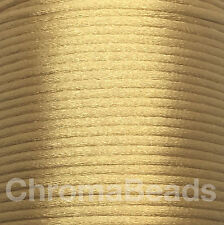 Rattail Satin Nylon Cord 2mm. Choose colour & length, kumihimo shamballa macrame