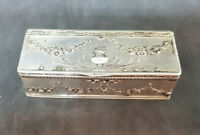 ANTIQUE SOLID SILVER DUTCH PIN BOX  51 G.