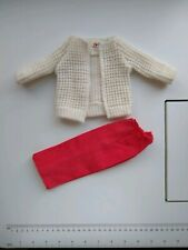 Vintage Fisher Price My Friend Mandy Doll Clothes Sweater Coat Jacket Red Pants
