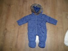 2 Baby Boys Winter All In One Coats Snowsuits 3-6 Months