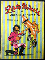 1948 NFL Football Program San Francisco 49ers vs Chicago Rockets Vintage Sports