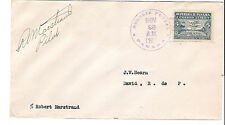 Panama M70 Internal Airmail First Flight Cover Signed Pilot
