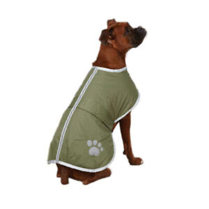 Zack & Zoey Extra Large Polyester Reversible Reflective Dog Coat Cover, Chive