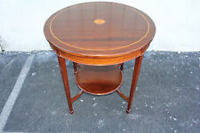 Beautiful Inlaid English Hepplewhite Mahogany Round  parlor Center Table