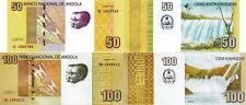 ANGOLA - Lot Lotto 2 banconote 50/100 Kwanzas 2012 FDS - UNC