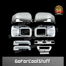 15-16 FORD F150 Fog Light 2 Mirror 2 Door Handle 2 Bowl 1 Tailgate Chrome Cover