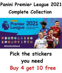 Panini Football 2021 Premier League Stickers. Pick the stickers you need 1-642