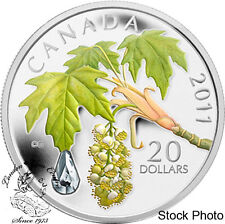 Canada: 2011 $20 Maple Leaf Crystal Raindrop Silver Coin