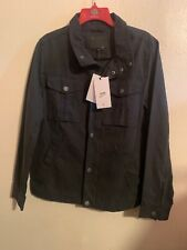 UGG COHEN MEN'S WAXED COTTON JACKET -OFF BLACK -SIZE SMALL $295