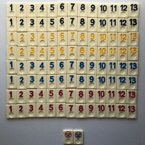 1990 Rummikub Tile Board Game Replacement Tiles Only Pressman