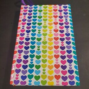 Lisa Frank Queen Of Color Hearts Journal 3 recipes written inside 128 Sheets