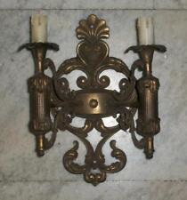 antica applique bronzo dorato 2 luci stile impero disponibilità 5 + lampadario