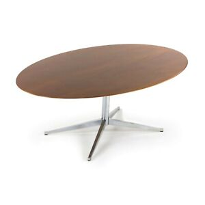 1960s Florence Knoll International 78 inch Walnut Dining Table Newly Refinished