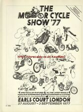 The Motor Cycle Show 77 Motorcycle 1977 Magazine Advert #2170