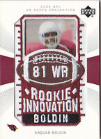 ANQUAN BOLDIN RC 2003 UPPER DECK UD PATCH COLLECTION #147 MANUFACTR PATCH FB5653