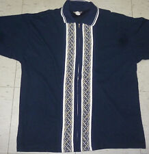 Vintage retro blue 90's Defcon full zip NY hardcore short sleeve shirt size L