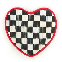 MacKenzie-Childs Courtly Check Heart Pot Holder 100% Cotton