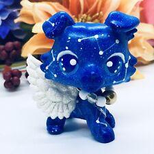 "Littlest Pet Shop, Blue ""Galaxy Guardian� Collie Ooak Custom Hand Painted, Nice!"
