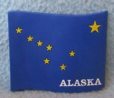 Alaska Laser Cut Rubber Magnet, Souvenir, Travel, Refrigerator