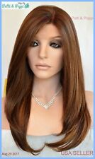Swiss Lace Front Wig 4X4 Silk Top Hand tied Heat Safe P27.4.30 Long Thick 1247