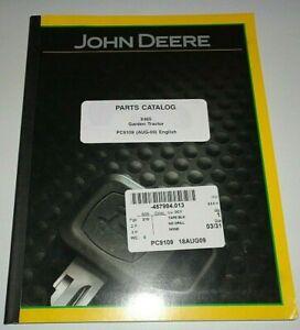 John Deere X465 Lawn Garden Tractor Parts Catalog Manual Book Original! 8/09