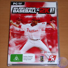 Major League Baseball 2011 MLB 2K11 for PC (DVD) AU NEW & SEALED