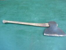 "VINTAGE Broad Axe 10"" Blade Head Tool And Has 30"" Wooden Handle"