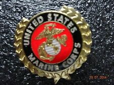 United States Marine Lapel  pin Beautiful bright Red with Goldtone decoration