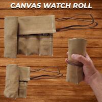 Canvas Travel Watch Roll, Canvas Storage Watch Roll, Watch Holder Christmas Gift