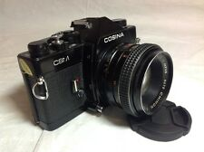 Cámara SLR Cosina CSM Con Lente Chinon 55mm f1.7 M42