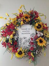 Deco mesh country wreath