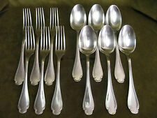 6 couverts de table métal argenté alfénide-christofle pompadour (12pces)