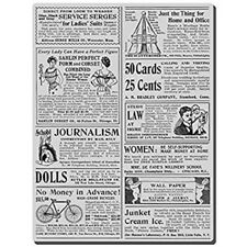 Stampendous Cling Stamp Cling Classifieds  9.5 cm  x 12.5 cm CRR168