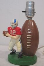 Vintage SEARS-ROEBUCK & CO ©1980 Football Player Desk Night Portable Lamp K-6247