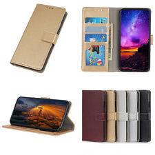 Per LG One X5 W30 W10 V50 OnePlus 7 Litchi Flip in Pelle Portafoglio Stand Cover Case