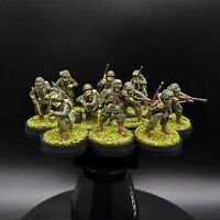 Painted 28mm Ww2 bolt action Late War Us Airborne Squad (10 Men)