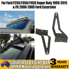 "Pair Windshield Mount Bracket 50"" LED Light Bar For Ford F250/F350/450 Excursion"