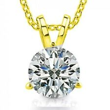 0.65 Ct Ladies Round Cut Diamond Soitaire Pendant / Necklace