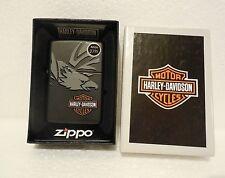 Zippo Lighter 24773 Harley Davidson Black Eagle  New In Box