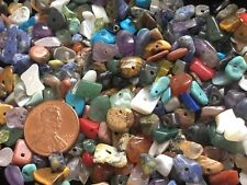 8 OZ Mixed Semi Precious Gemstone Chip Beads, Small-Medium, Harvested & Destash