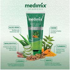2 X 100ml Herbal Anti Pimple Acne Blemish Neem Turmeric aloe vera Face wash UK