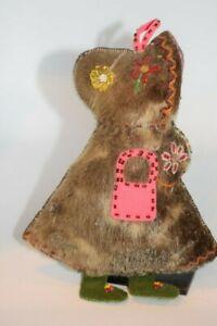 Unusual Athabascan Alaska NWT Native American First Nation Beaded Fur Doll