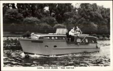 TUCK Power Boat Yacht Motor Cruiser Series Real Photo Postcard MAID MARY-SUE